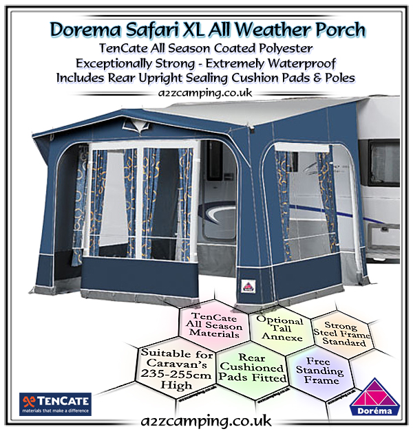 2018 Dorema Safari XL Porch Awning